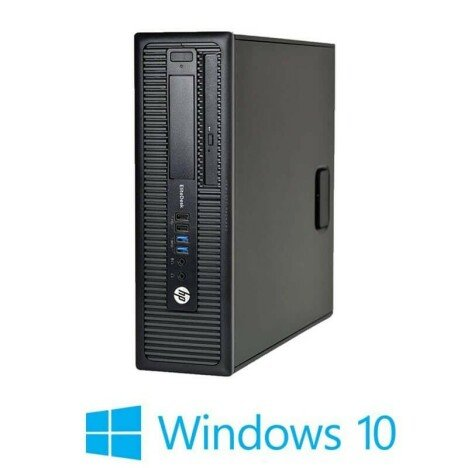 Calculatoare Refurbished HP EliteDesk 800 G1 SFF, i5-4590, 120GB SSD, Win 10 Home